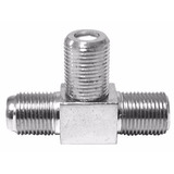 Conector F82 3 Hembras Tipo T Para Cable Coaxial
