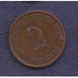 Alemania 1912 Moneda De 2 Pfennig Usada