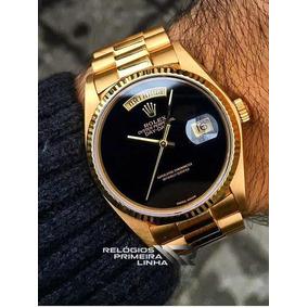 Rolex Day Date Presidente Com Preto