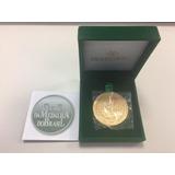 5ba9173a041 Medalha Centenário Palmeiras 2014 (bronze Dourado) Com Caixa
