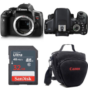 Camera Canon Eos Rebel T6i Dslr Só Corpo + Bolsa + Sd32gb