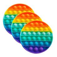 Kit 3 Pop It Redondo Fidget Toy Sensorial Colorido Promoção