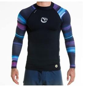 2 Camisetas Com Proteção Solar Uv Manga Longa Masculina Surf