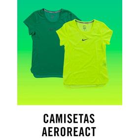 Camiseta Verde Nike Dry Miler Running Fem