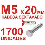 Pct 1700/parafusos Sextavado Rosca Inteira Métrica M5x20
