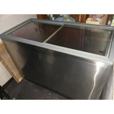 Freezer Horizontal Metalfriol 2 Portas De Vidro Todo De Inox