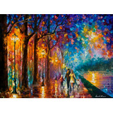 Family By The Lake - Pintura Al Óleo En Lienzo Por L Afremov