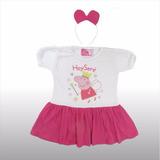 Remera Vestido Disfraz Nena Peppa Vincha Princesas Disney