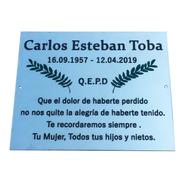 Placa Cromada Funeraria, Cementerio, Nicho, Lapida, 20x10cm