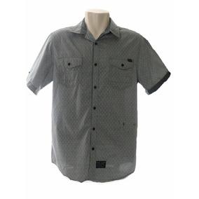 Camisa Social Masculina Marc Ecko Cinza Tam G + Frete Grátis