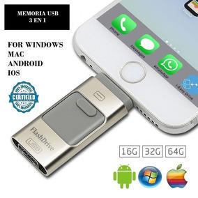 Pendrive 3 En 1 Para Andriod , Iphone Y Pc