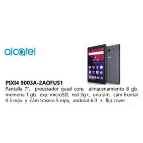 Tablet Alcatel 7.1 Quad -core 1.6ghz Memoria 8gb, Android 3g