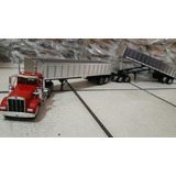 Tráiler A Escala 1:32 Full Kenworth W900 Gondola New Ray