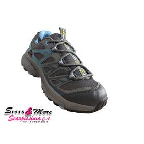 Zapato Para Dama Bobby Cat W5612 Gris/celeste