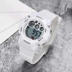 Relógio Infantil Ohsen De Silicone Branco À Prova D´água