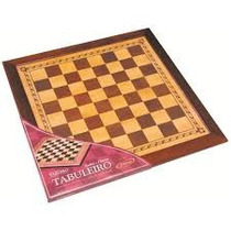 Tabuleiro Classico Para Xadrez Ou Damas Madeira Xalingo