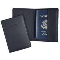 Porta Pasaporte Royce Piel De Granos Nappa Cuero De Vaca Pa