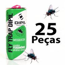 Fita Pega Mosca - Armadilha De Cola P/ Insetos Voadores 25pc