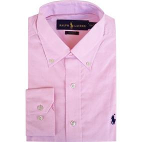 Camisa Social Polo Ralph Lauren Masculina Rosa Pronta Entreg
