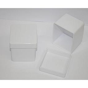 100 Caixinha Acrilico 5x5x4,3 Para Lembrancinhas Cor Branca