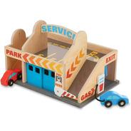 Juego De Estación De Servicio Y Garaje De Estacionamiento