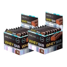 2 Caixas De Barras De Proteina Whey Bar 24 Unid - Probiótica