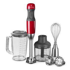 Mixer Kitchenaid Batidora Licuadora Minipimer Roja-silver