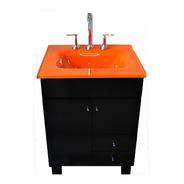 Vanitory Bacha Vidrio Naranja 50 X 40 Laqueado Premiun
