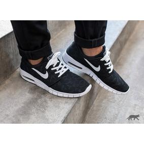 Nike Stefan Janoski Max - Negra - Azul - Gris