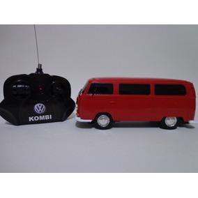 Carro Controle Remoto Vw Kombi Vermelha 1/24 Cks