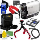 Sony Hdras200v Full Hd Action Cam Con Wifi Nfc Gps Y Ultrawi