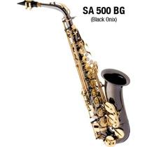 Sax Alto Eagle 500 Bg Preto Onix