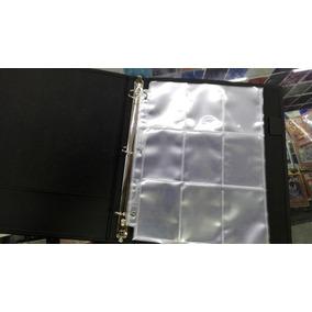 Carpeta Negra C/10 Hojas Para Cartas Yugioh Pokemon