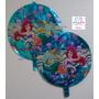 Globos Sirenita Disney Metalizados 45cm Decoracion Fiesta