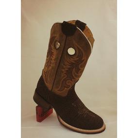 Bota Vaquera Los Texanos Boots, Piel Cuello De Toro. Mod 9