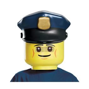 Disfraz Máscara De Oficial De Policía De Lego Talla Única. 3ce9616ba16a