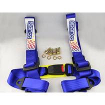 Cinturón De Seguridad Estilo Sparco 4 Puntos Azul