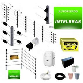Kit Cerca Elétrica Intelbras Industrial 70m C/ Big Hastes