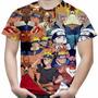 Camiseta Masculina Naruto Shippuuden Mangá Full Print Md03