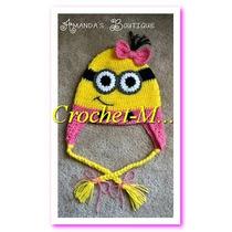 Gorros Tejidos A Crochet Personaje Minion Niñas