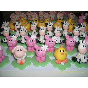 Souvenir Animales De Granja Porcelana Fría
