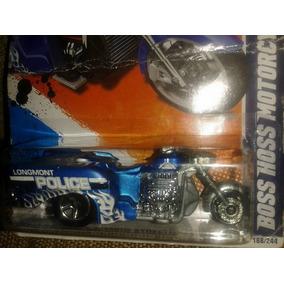 Miniatura Moto Hoss Boss Police Hot Wheels Raridade !!!