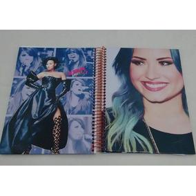 Caderno Demi Lovato 10 Matérias Com 200 Fls