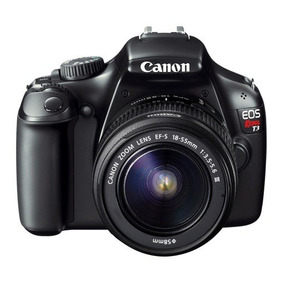 Câmera Canon Eos Rebel T3 + Lente 18-55mm + Lente 75-300mm