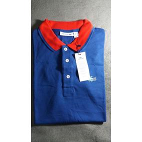 Camiseta Polo Lacoste Original Tamanho 7 Azul Clara - Camisas ... f8d3b0cd69