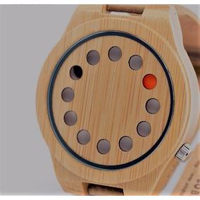 Reloj Hipster De Bamboo