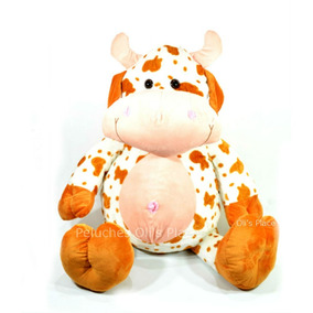 Vaca Gigante De Peluche Importado 2 Colores !