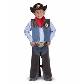 Disfraz Niño Vaquero Cowboy Sheriff Talla 3-5 Envío Gratis