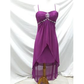 Vestido Color Uva Cola De Pato