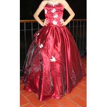 Vestido15 Años Color Vinotinto